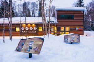 Pavillon Léopold-Pauline à la Montagne du Diable réalisé par DWB Consultants. Vue de face 2iem prise